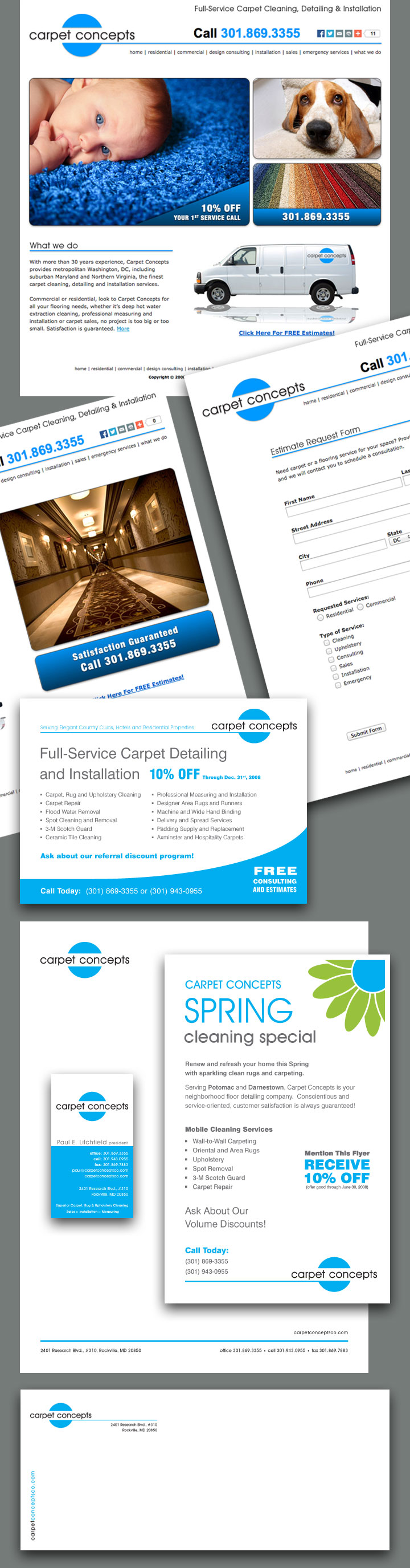 Carpet Concepts Website and Collateral