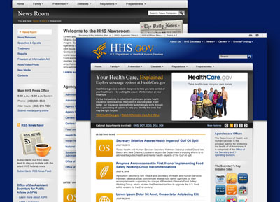HHS.gov design 2 thumbnail